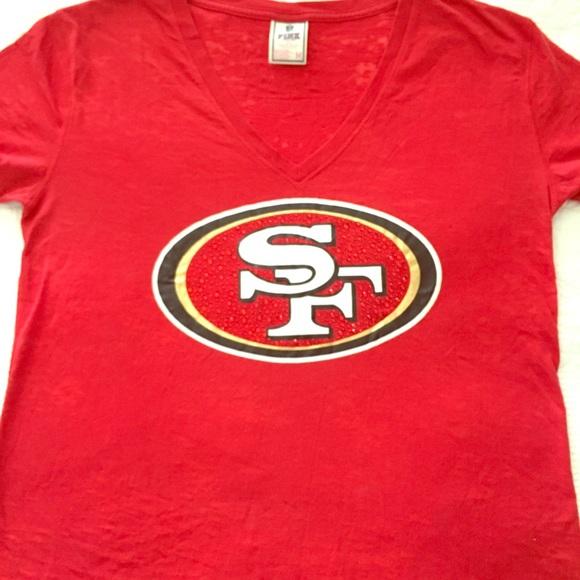 38a185e2c NFL San Francisco 49ers PINK Victoria s Secret Tee.  M 5baa6e4f03087c3771298805